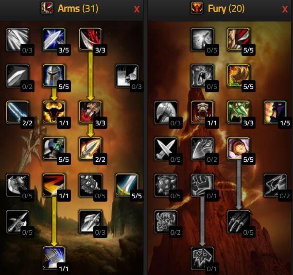 《魔獸世界: 經典版》武器戰士天賦
