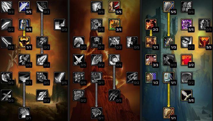 《魔獸世界 經典版》防護戰士天賦